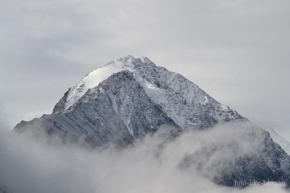 Заснеженная вершина близ горы Белухи