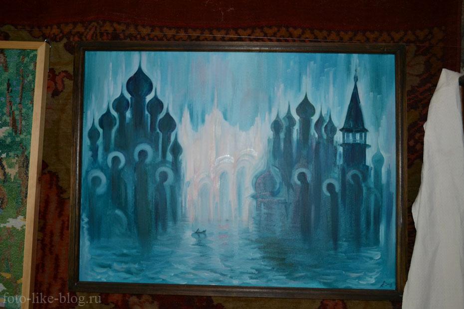 Вход в мистическую страну Беловодье, картина в музее старообрядчества