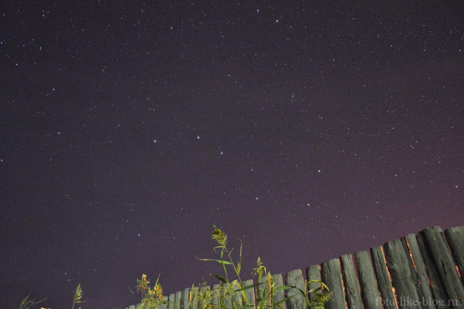 Звездное небо - пример фото ночью на Nikon d3100