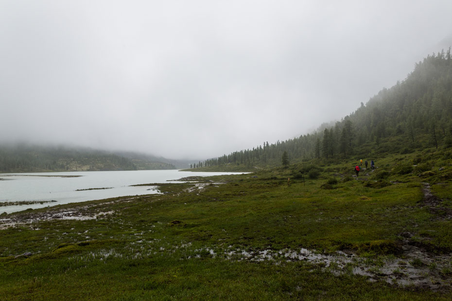Озеро Ак-Кем в тумане