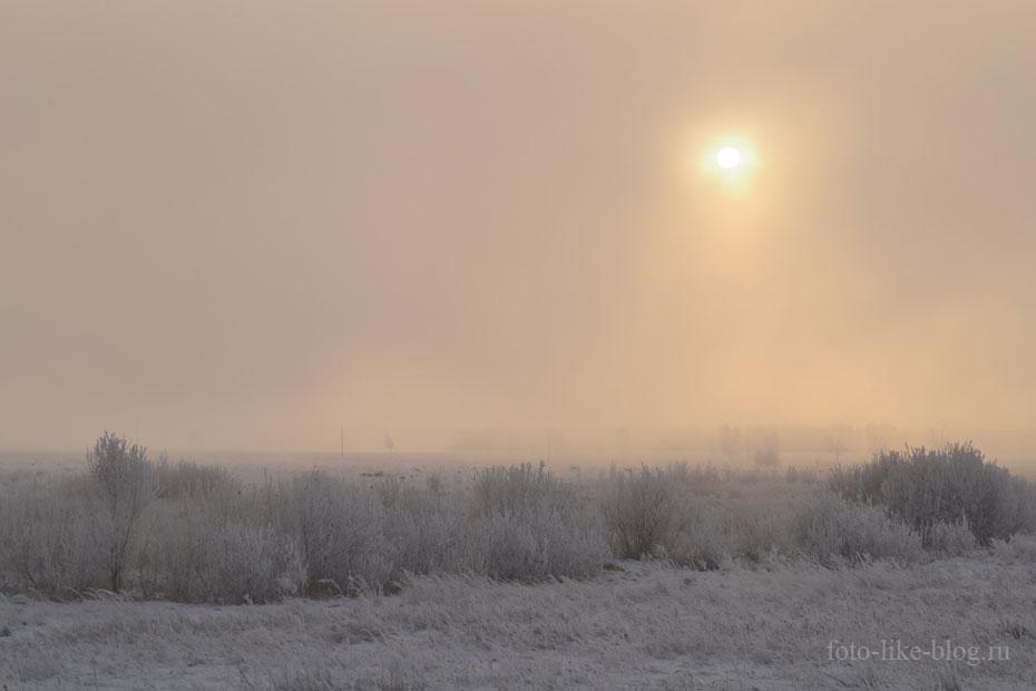 Зимний туман - фото Nikon d3100
