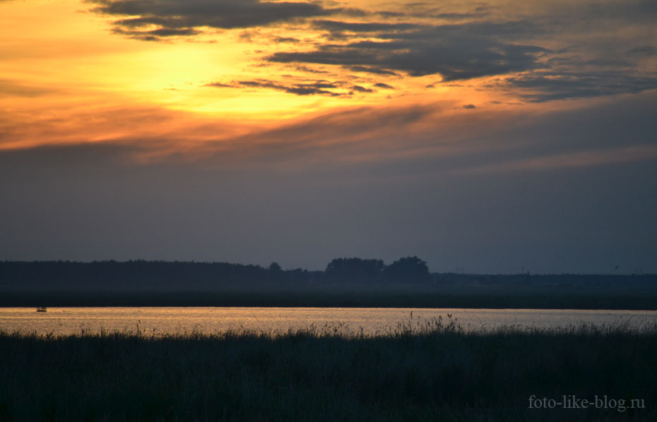 Фотография заката на озере - пример фото с nikon d3100