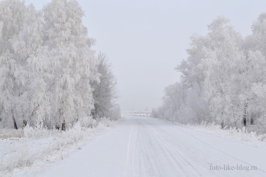 Суровая сибирская зима