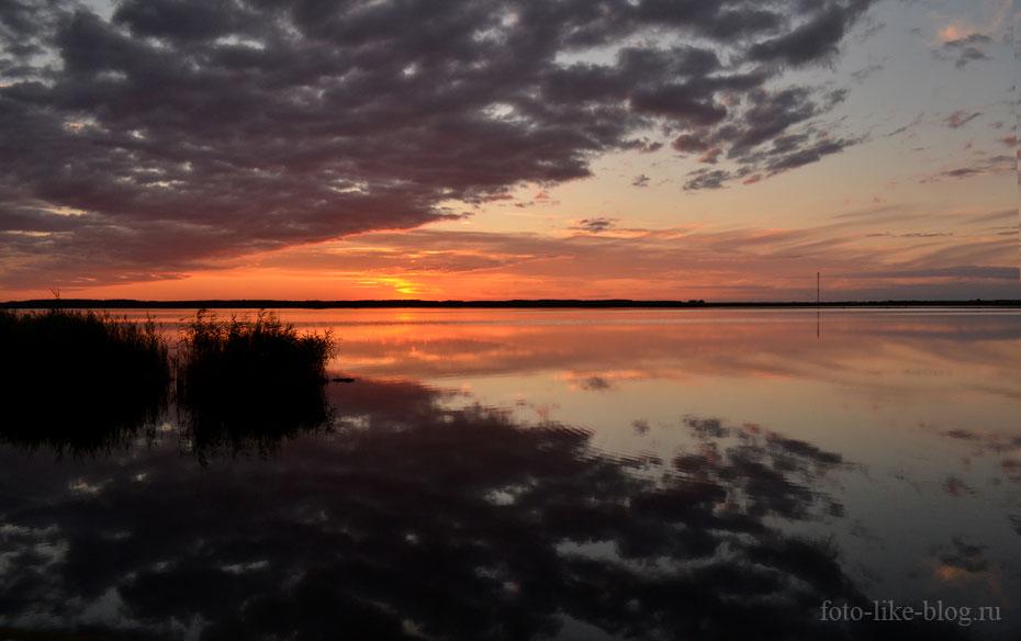 Закат на озере Большой артуган, Чаны - пример фото на Nikon d3100