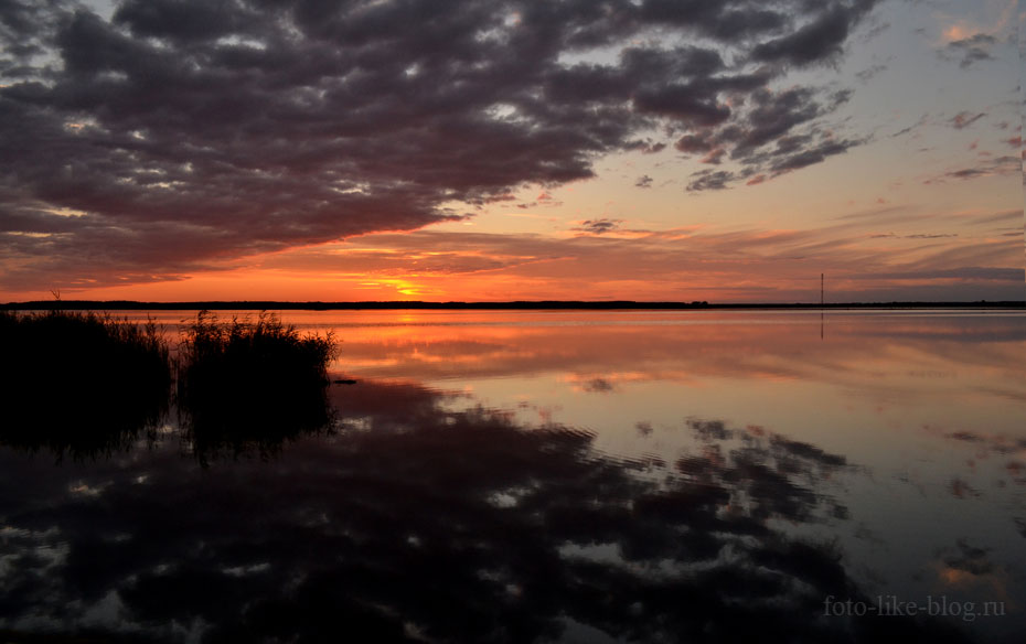 Закат на озере большой Артуган, Чаны