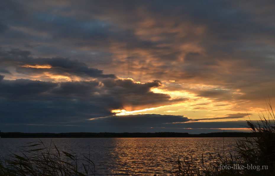 Красивое закатное небо - Nikon d3100